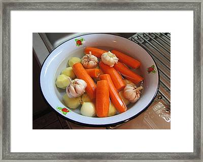 Framed Print featuring the photograph We Cook Food 1 by Yury Bashkin