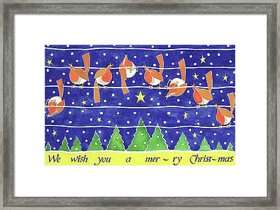 We Wish You A Merry Christmas Framed Print by Cathy Baxter