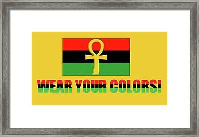 Wear Rgb Framed Print by Adenike AmenRa
