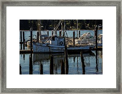 Weathered Fishing Boat Framed Print by Garry Gay