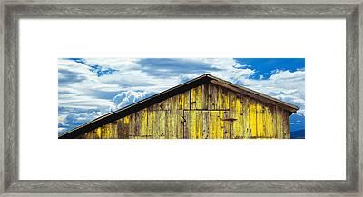Weathered Wooden Barn, Gaviota, Santa Framed Print by Panoramic Images