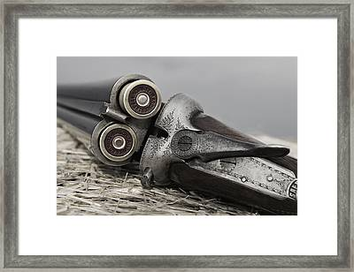 Webley And Scott 12 Gauge - D002721a Framed Print
