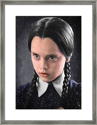 Wednesday Addams Framed Print by Taylan Apukovska