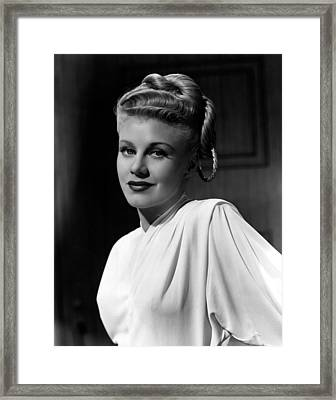 Weekend At The Waldorf, Ginger Rogers Framed Print