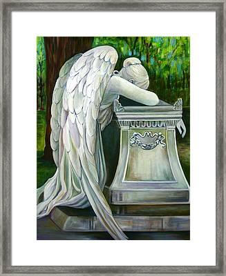 Weeping Angel Framed Print by Susan Santiago