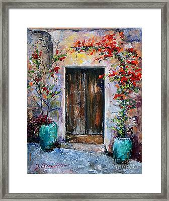 Framed Print featuring the painting Welcome by Jennifer Beaudet