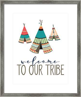 Framed Print featuring the digital art Welcome To Our Tribe by Jaime Friedman