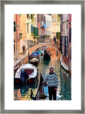 Welcome To Venice Framed Print