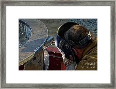 Welding Framed Print