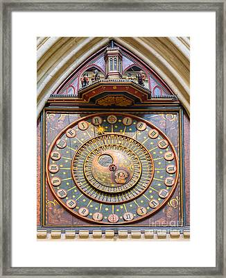 Wells Cathedral Clock Framed Print by Colin Rayner