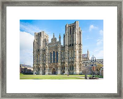 Wells Cathedral Framed Print by Colin Rayner