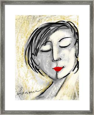 Framed Print featuring the digital art Wendy by Elaine Lanoue