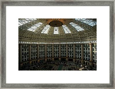 West Baden Springs Dome Framed Print by Martin Morehead