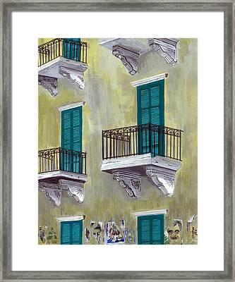 West Beirut Terraces Framed Print