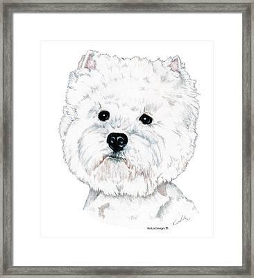West Highland White Terrier, Westie Framed Print by Kathleen Sepulveda