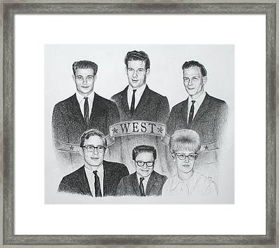 Framed Print featuring the drawing West by Mike Ivey