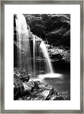 West Virginia Waterfall  Framed Print by Thomas R Fletcher