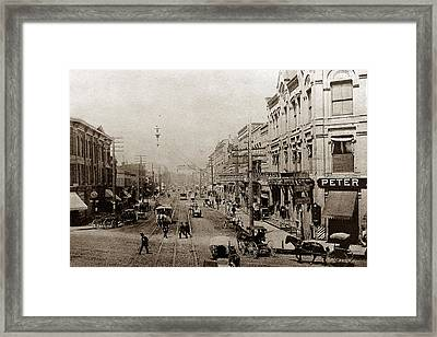 West Water Street Framed Print