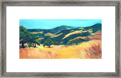 Western Hills Framed Print by Anne Trotter Hodge
