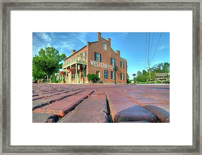 Western House Framed Print