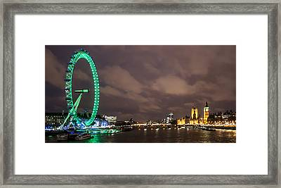 Westminster And The London Eye Framed Print by Dawn OConnor