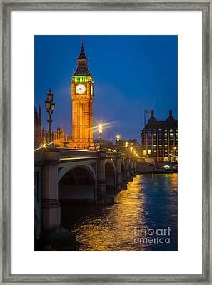 Westminster Bridge At Night Framed Print