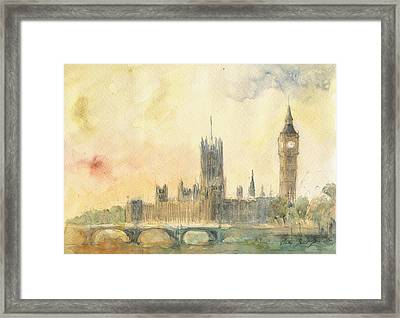 Westminster Palace And Big Ben London Framed Print
