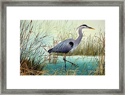 Framed Print featuring the painting Wetland Beauty by James Williamson