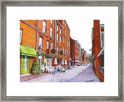 Wharf Street Portland Maine Framed Print by Thomas Michael Meddaugh