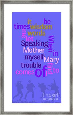 What Is The Name Of The Song? Funny Poster And Game For Music Lovers Framed Print by Pablo Franchi