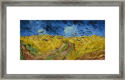 Wheatfield With Crows  Framed Print by Vincent van Gogh