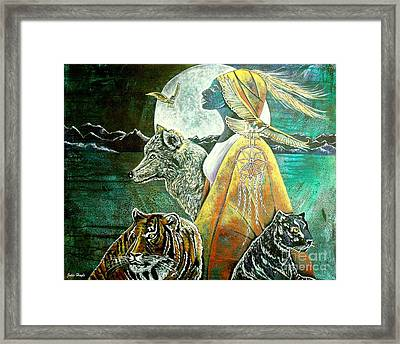 Where The Two Worlds Meet Framed Print