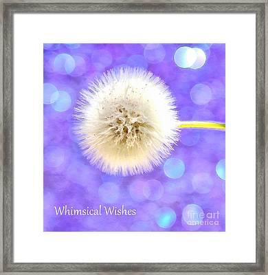 Whimsical Wishes Framed Print by Krissy Katsimbras