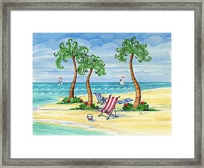Whimsy Bay Sling Chairs Framed Print