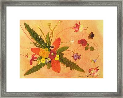 Whirled Away Framed Print by Kathie McCurdy