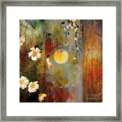 Whisper Forest Moon II Framed Print by Mindy Sommers