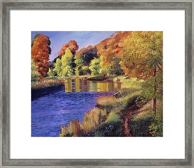 Whispering River Framed Print by David Lloyd Glover