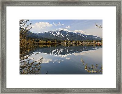 Whistler Blackcomb Green Lake Reflection Framed Print by Pierre Leclerc Photography