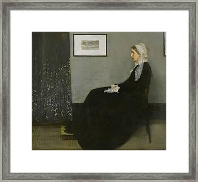 Whistler's Mother Framed Print by James Abbott McNeill Whistler