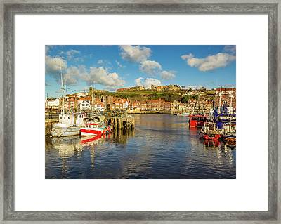 Whitby Harbour Framed Print by Keith Sayer