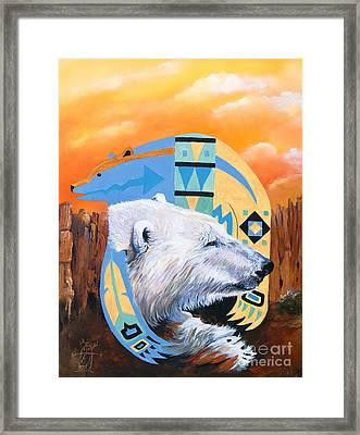 White Bear Goes Southwest Framed Print