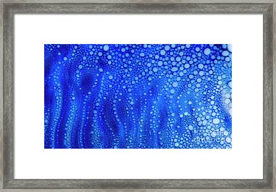 White Dots Framed Print