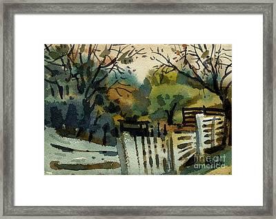 White Fence Framed Print
