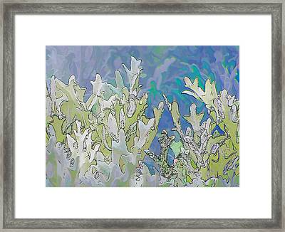 White Forest 4 Framed Print by Michael Taggart II