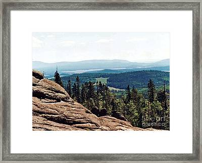 Framed Print featuring the photograph White Mountains Of Arizona by Juls Adams