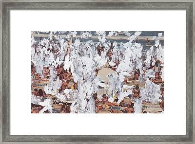 White-out 6 Framed Print