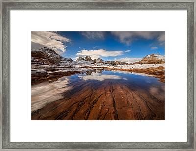 White Pocket Northern Arizona Framed Print by Larry Marshall