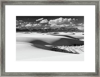 White Sands Afternoon Framed Print