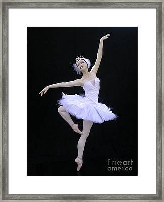 White Swan Framed Print by Vickie Arentz