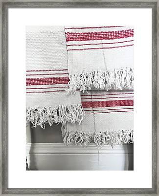 White Towels Framed Print